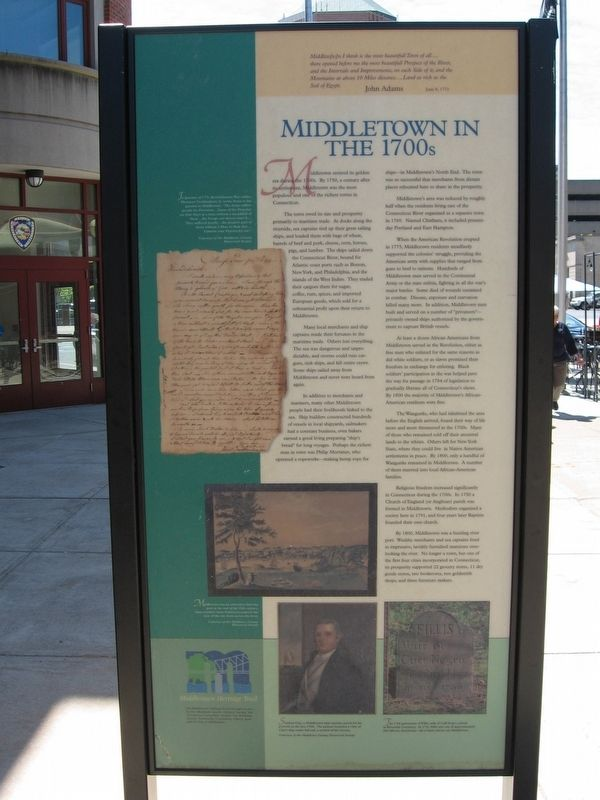 Middletown in the 1700s Marker image. Click for full size.
