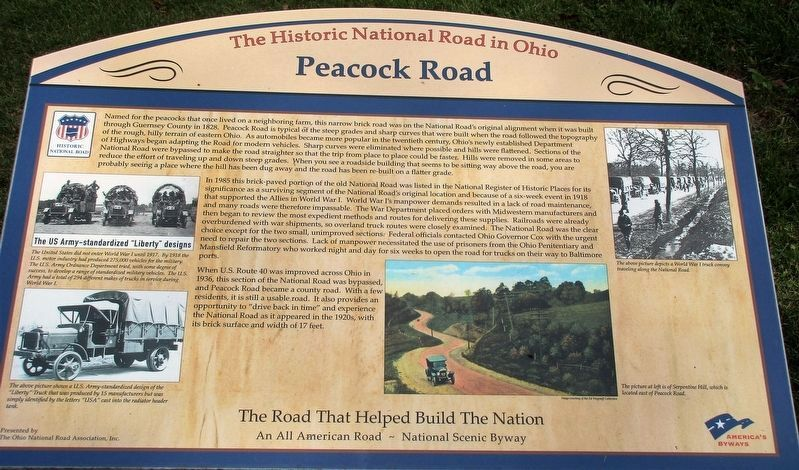Peacock Road Marker image. Click for full size.