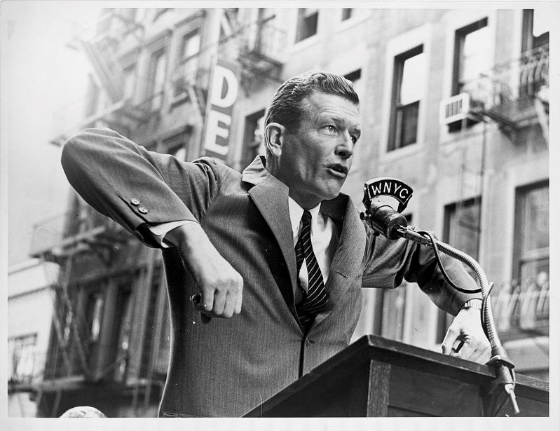 John Lindsay speaking image. Click for full size.