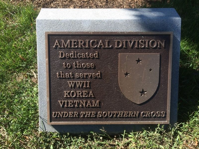 Americal Division Marker image. Click for full size.