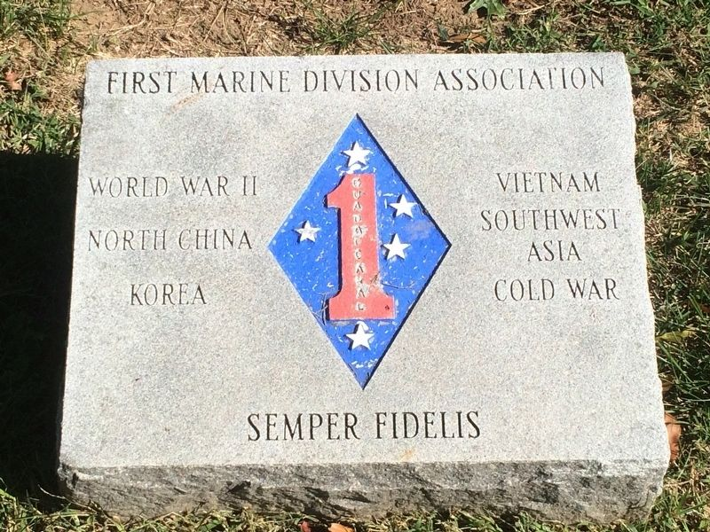First Marine Division Association Marker image. Click for full size.