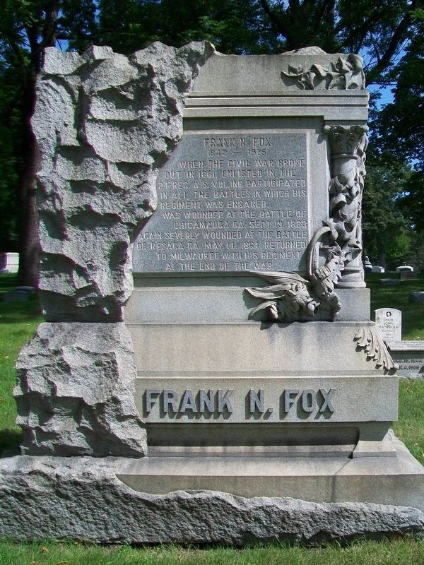 Frank N. Fox Monument image. Click for full size.