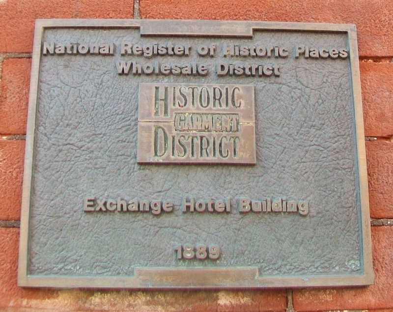 Exchange Hotel Building Marker image. Click for full size.
