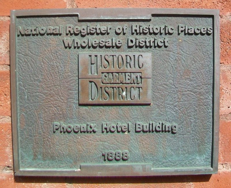 Phoenix Hotel Building Marker image. Click for full size.