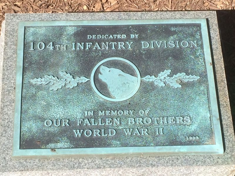 104th Infantry Division Marker image. Click for full size.