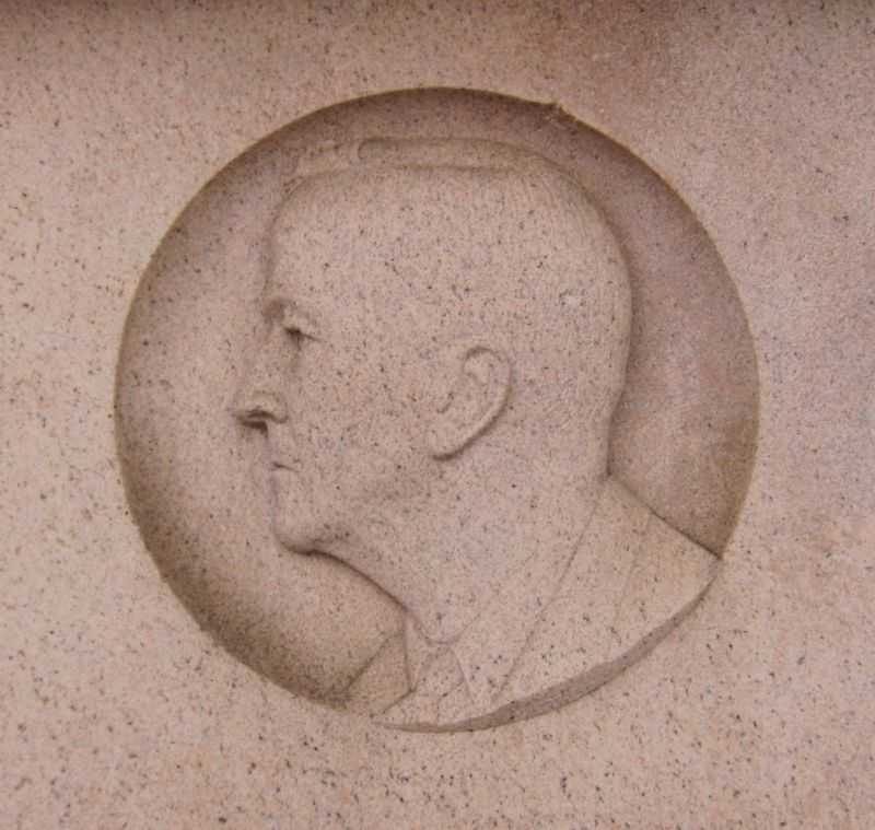 Arthur Brisbane - Closeup of Portrait on Monument image. Click for full size.