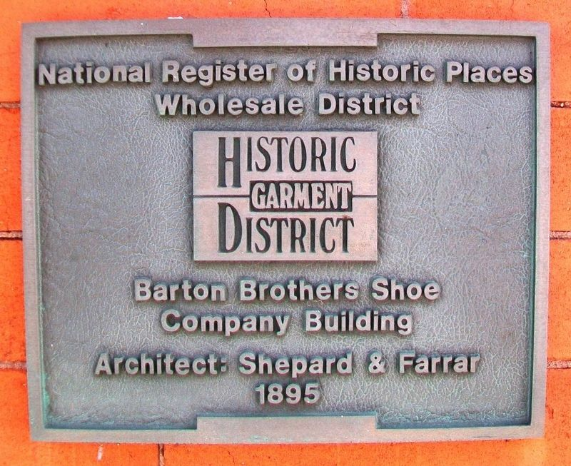 Barton Brothers Shoe Co Bldg Marker image. Click for full size.