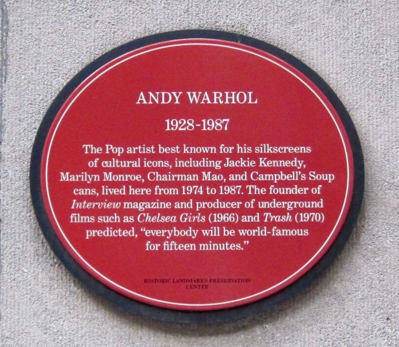 Andy Warhol Marker image. Click for full size.