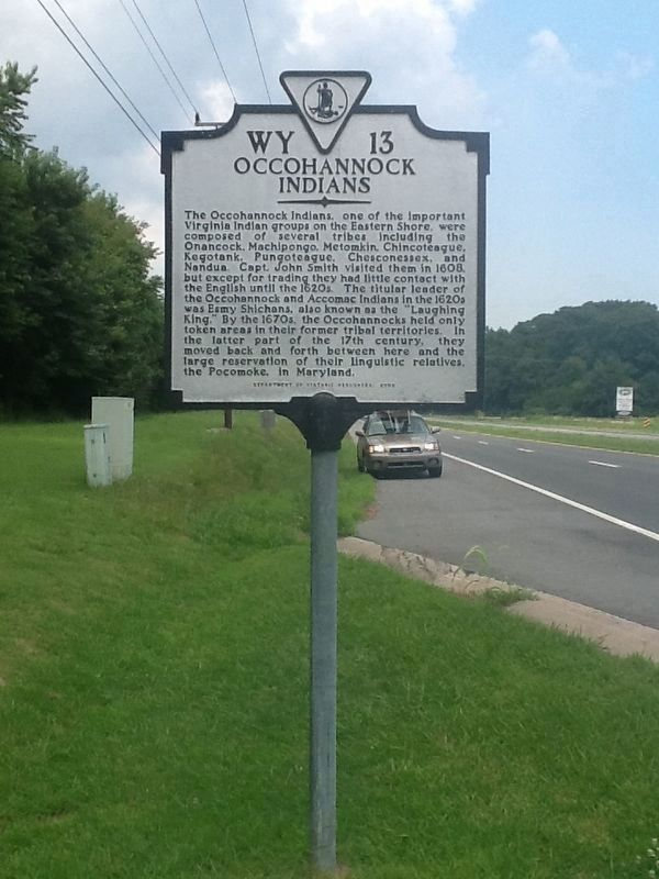 Occohannock Indians Marker image. Click for full size.
