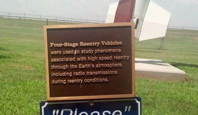 Plaque describing Four-Stage Reentry Vehicle image. Click for full size.