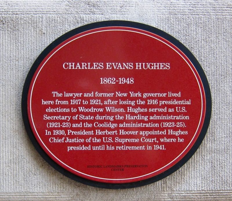 Charles Evans Hughes Marker image. Click for full size.