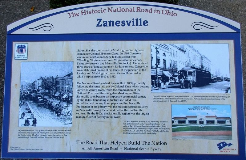 Zanesville Marker image. Click for full size.