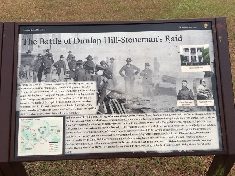 Battle of Dunlap Hill-Stoneman's Raid Marker image. Click for full size.