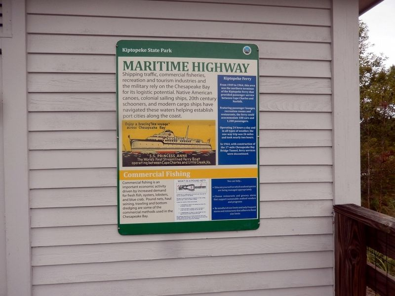 Maritime Highway Marker image. Click for full size.