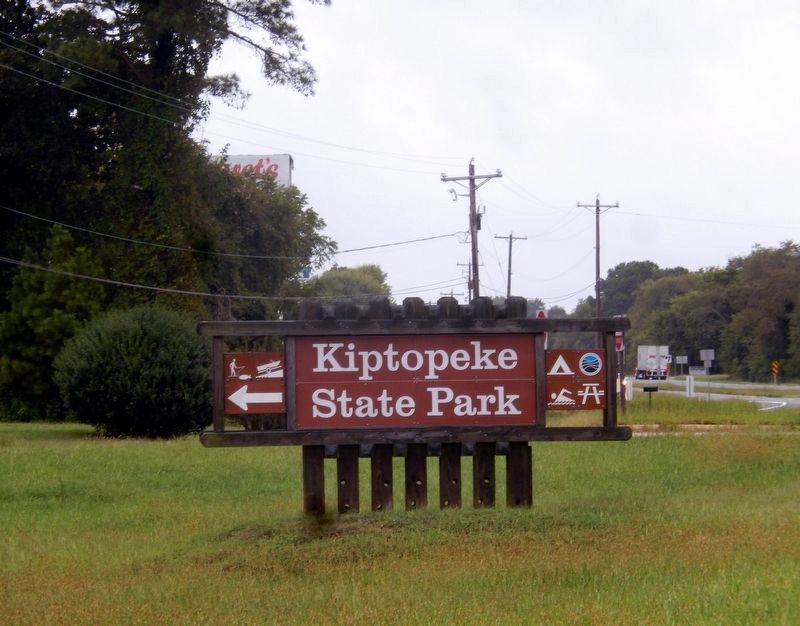 Sign at the entrance to Kiptopeke State Park image. Click for full size.