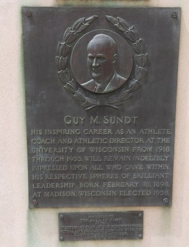 Guy M. Sundt Marker image. Click for full size.