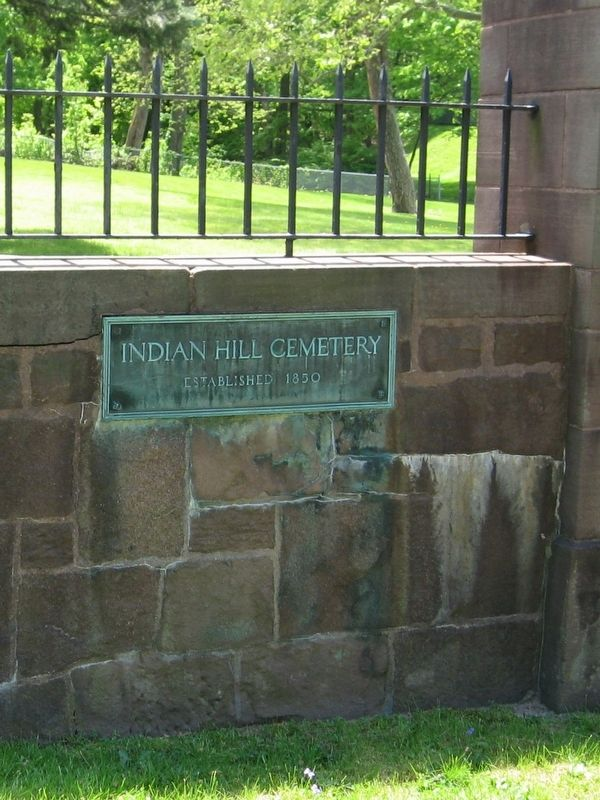 Plaque at the Left side of the Cemetery Entrance image. Click for full size.
