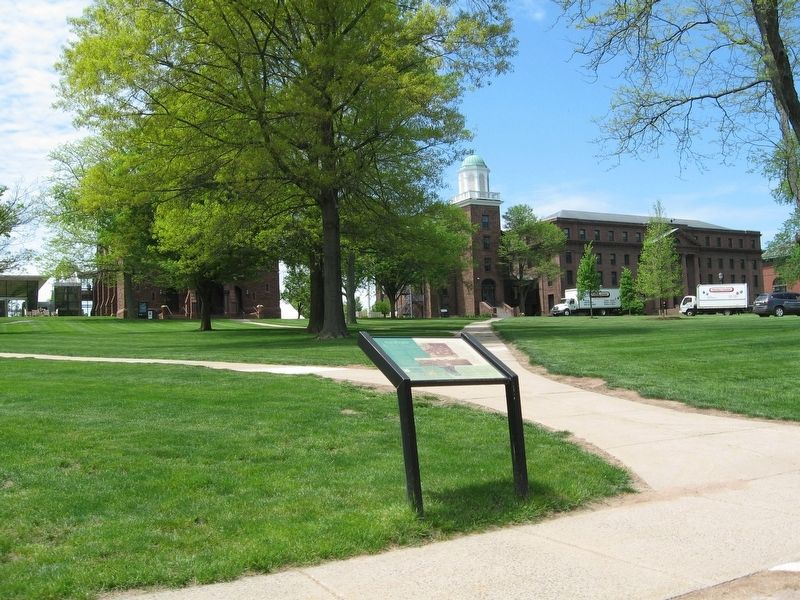 "Wesleyan University's ""College Row"" Marker image. Click for full size."
