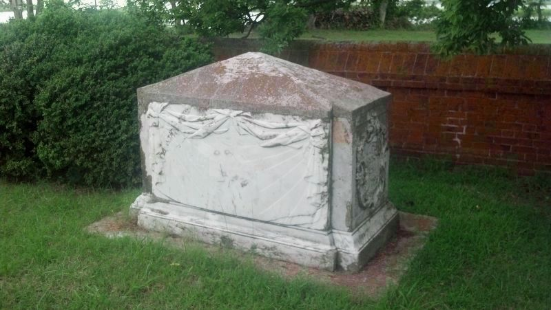 John Custis IV tombstone (south side) image. Click for full size.