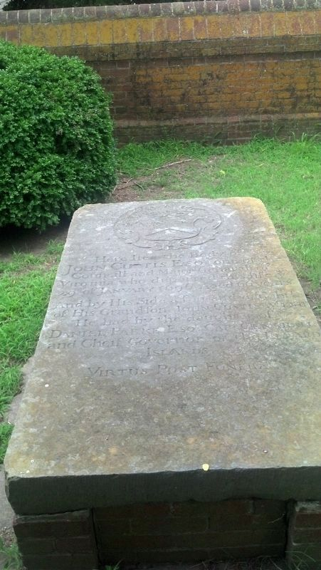 John Custis II tombstone image. Click for full size.