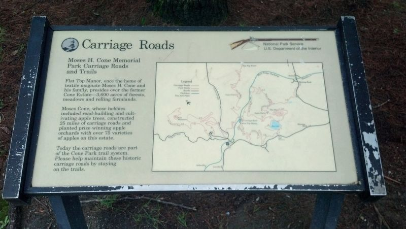 Carriage Roads Marker image. Click for full size.
