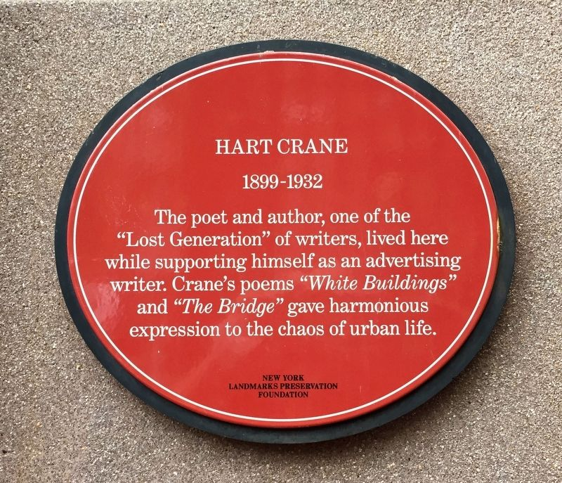 Hart Crane Marker image. Click for full size.