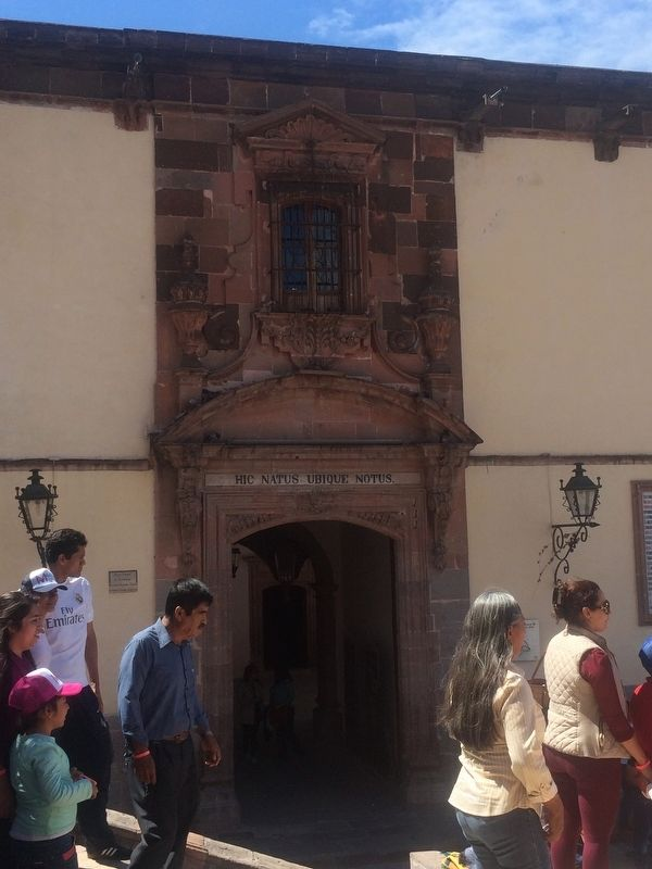 Main entrance to the birthplace of Ignacio Allende image. Click for full size.