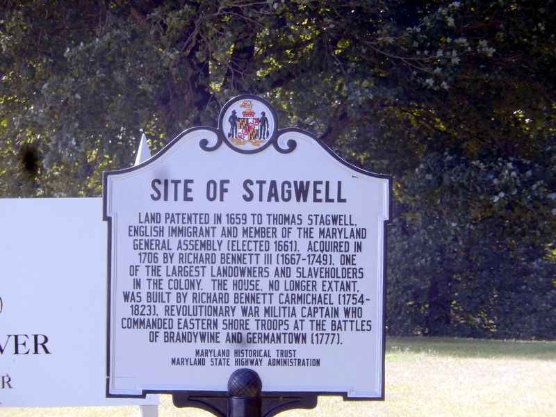 Site of Stagwell Marker image. Click for full size.