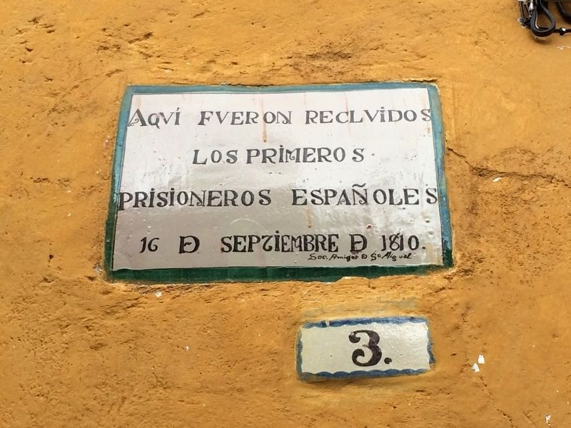 The First Spanish Prisoners Marker image. Click for full size.