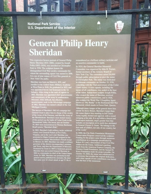 General Philip Henry Sheridan Marker image. Click for full size.