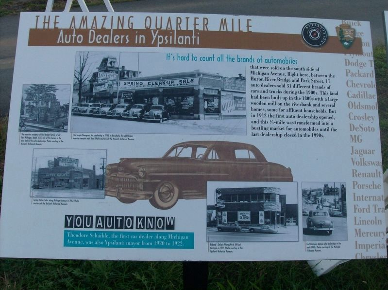 The Amazing Quarter Mile: Auto Dealers in Ypsilanti Marker image. Click for full size.