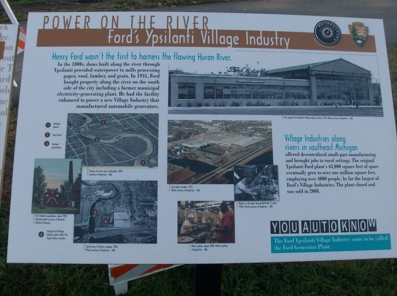 Power on the River: Ford's Ypsilanti Village Industry Marker image. Click for full size.