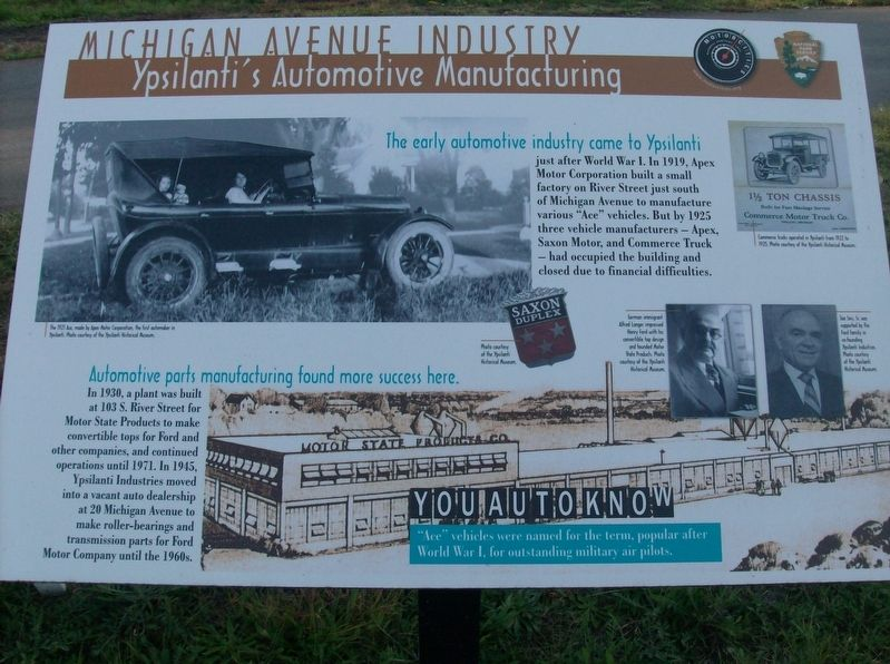 Michigan Avenue Industry: Ypsilanti's Automotive Manufacturing Marker image. Click for full size.