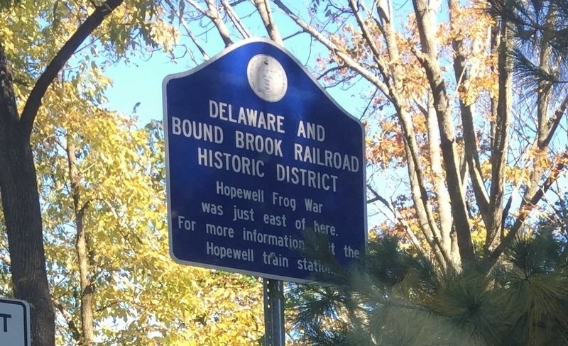 Delaware and Bound Brook Railroad Historic District Marker image. Click for full size.