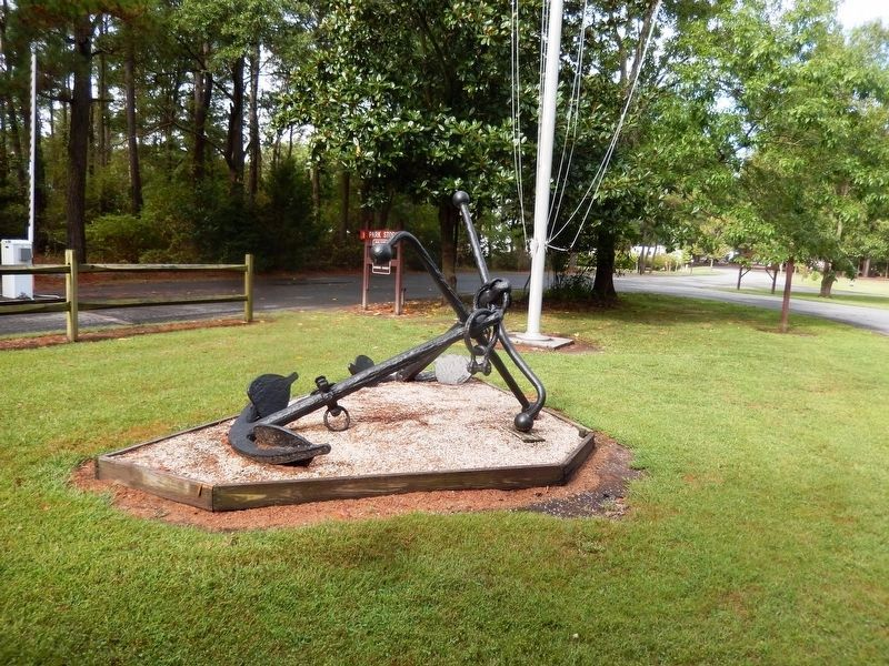 Anchor on the grounds of Janes Island State Park-Headquarters office image. Click for full size.