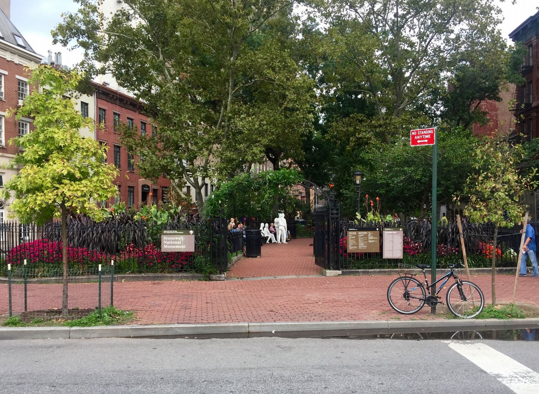 Stonewall National Monument and Christopher Park and Marker image. Click for full size.