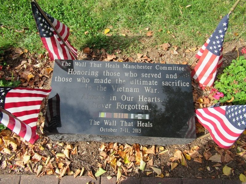 Tablet in front of the Memorial image. Click for full size.