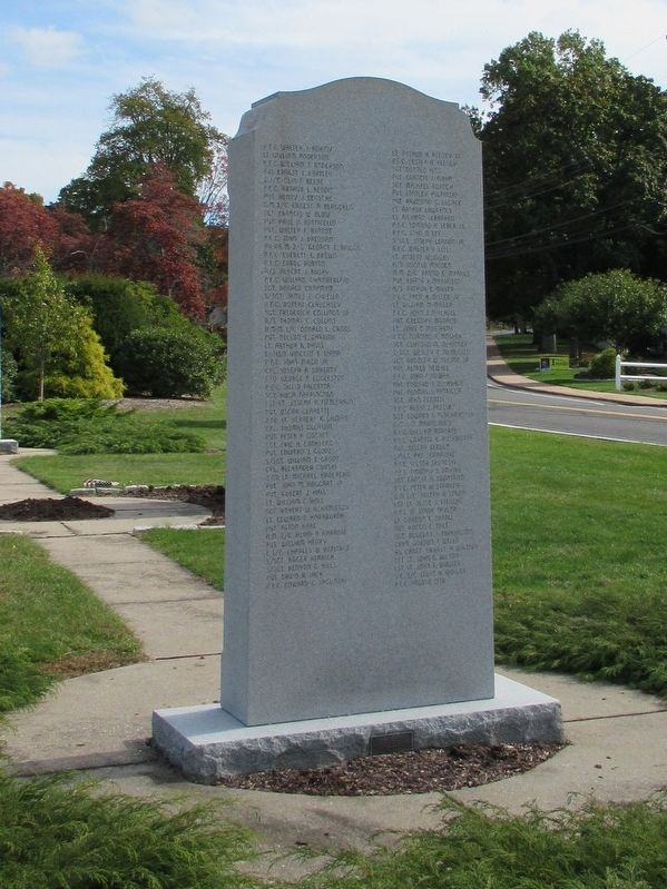 Manchester World War II Memorial Marker image. Click for full size.