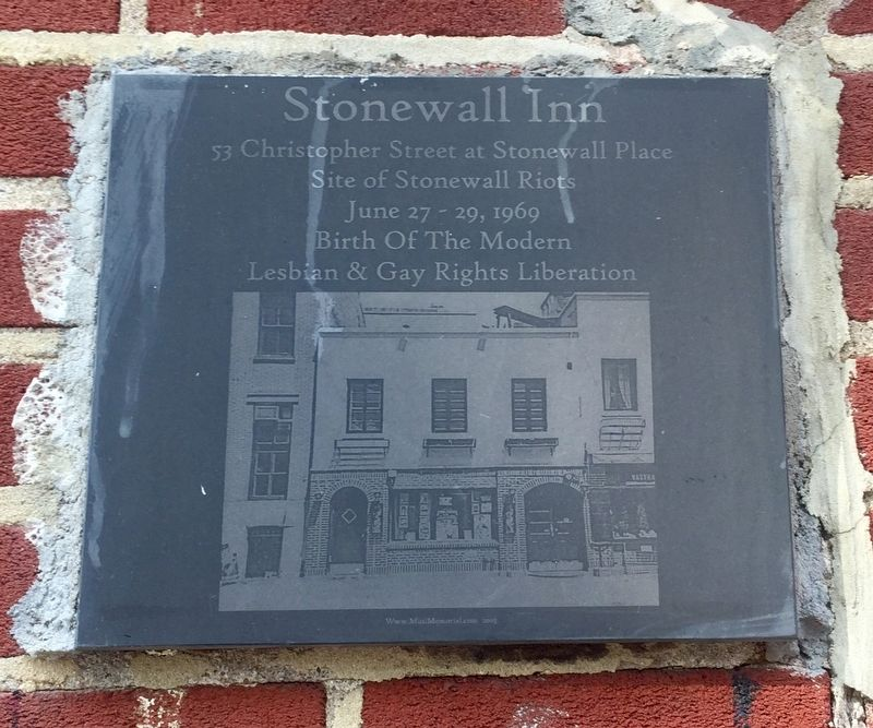 Stonewall Inn Marker image. Click for full size.