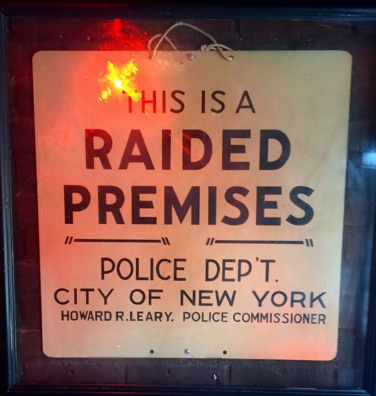 Raided Premises Sign image. Click for full size.