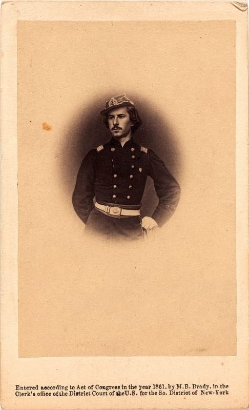 <i>E.E. Ellsworth, late colonel of N.Y Fire Zouaves</i> image. Click for full size.