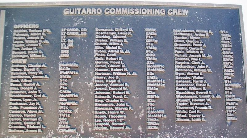 U.S.S. Guitarro (SS 363) Crew image. Click for full size.