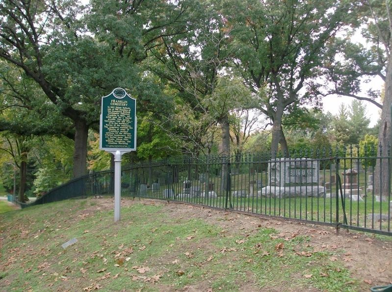 Franklin Cemetery Marker - looking west image. Click for full size.