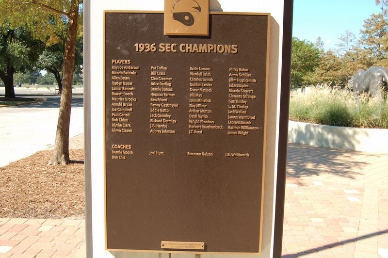 1936 SEC Champions Marker image. Click for full size.
