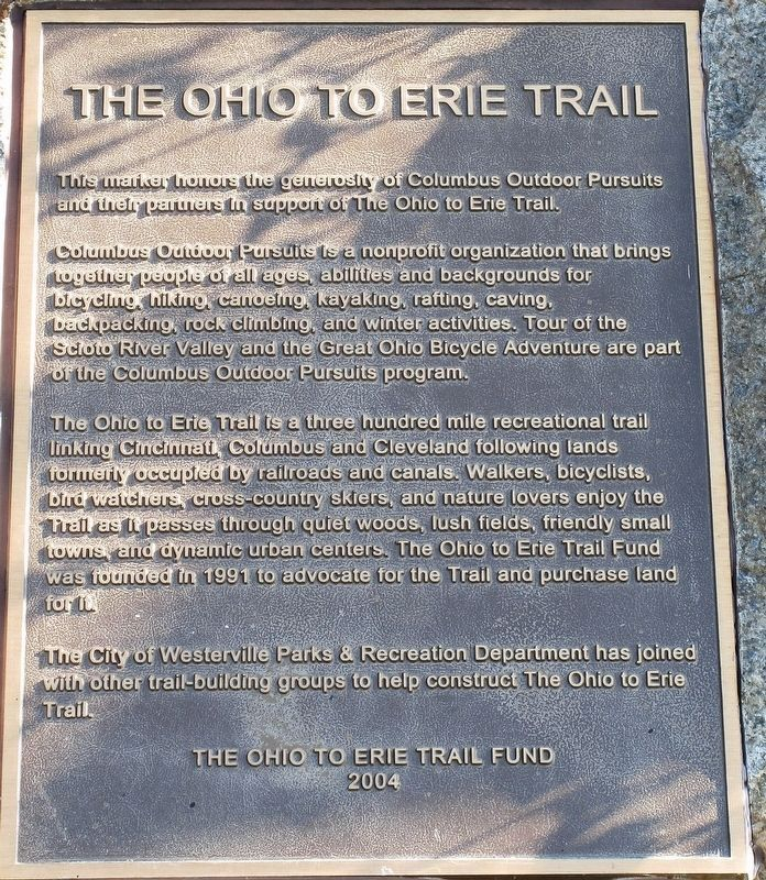 The Ohio to Erie Trail Marker image. Click for full size.