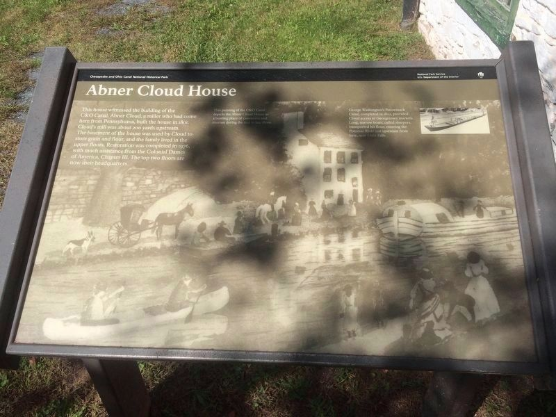 Abner Cloud House Marker image. Click for full size.