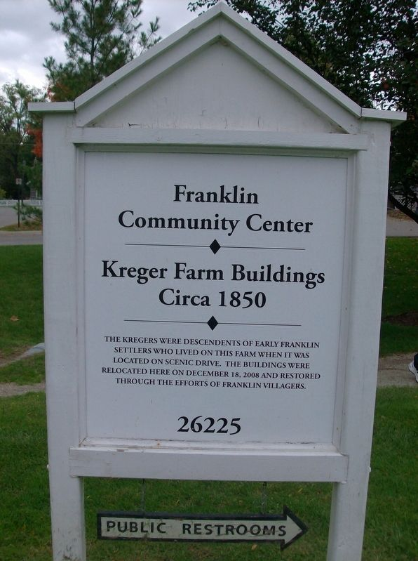 Kreger Farm Buildings Marker image. Click for full size.