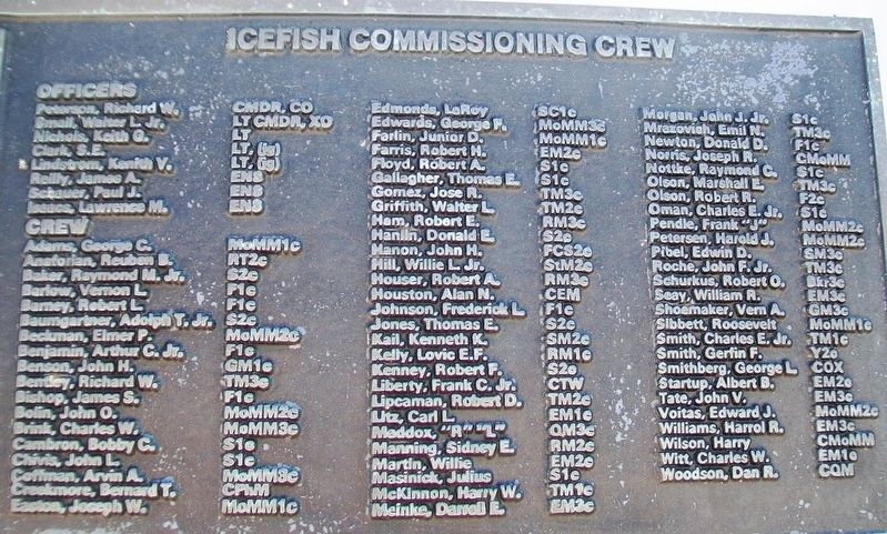 U.S.S. Icefish (SS 367) Crew image. Click for full size.