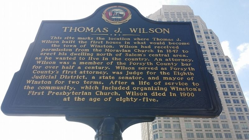 Thomas J. Wilson Marker image. Click for full size.