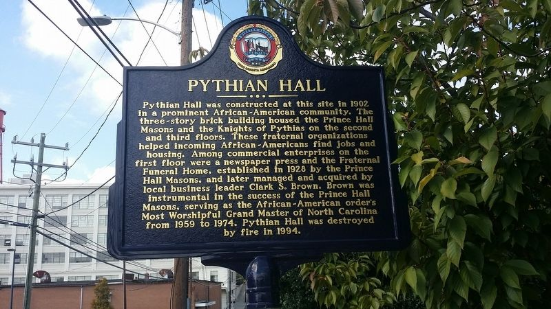 Pythian Hall Marker image. Click for full size.